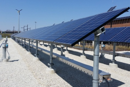 commercial solar ground mount utility-scale ground mount fixed tilt system